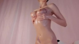 Brunette camgirl plays with her pussy