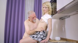 horny old bag with young blonde