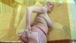 Granny gets assfucked with dildo and bbc