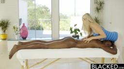 BLACKED- Blonde Karla Kush loves massaging BBC