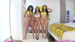 SWALLOWED- Adriana, Jynx and Megan in triple Sex-Action