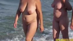 Mature nude beach voyeur milf amateur close-up